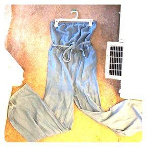 Comfortable denim jumpsuit- size small